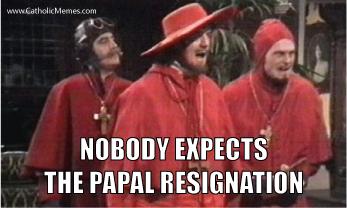 2013 02 11 Papal Resignation