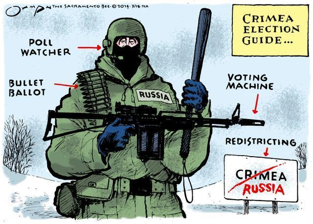 Cartoon by Jack Ohman of the Sacramento Bee.