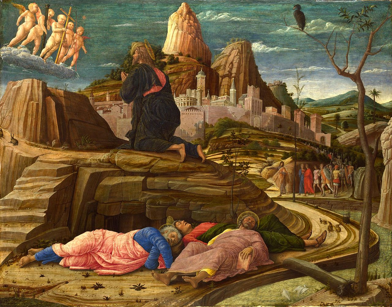 Andrea Mantegna's Agony in the Garden, circa 1460