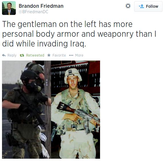 2014-10-01 Ferguson Police Iraq Comparison