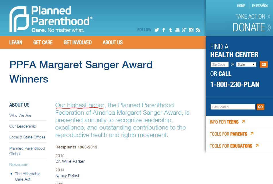 854 - Margaret Sanger Award