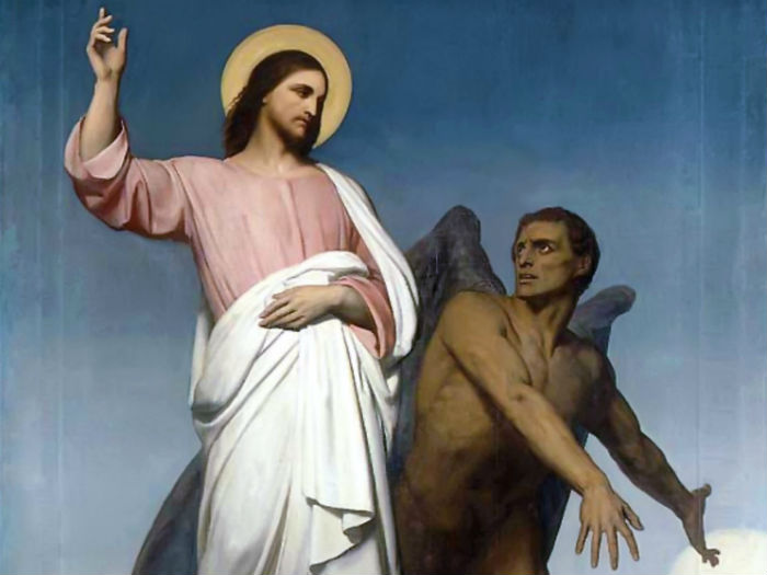 Detail of The Temptation of Christ by Ary Scheffer. (Public Domain)