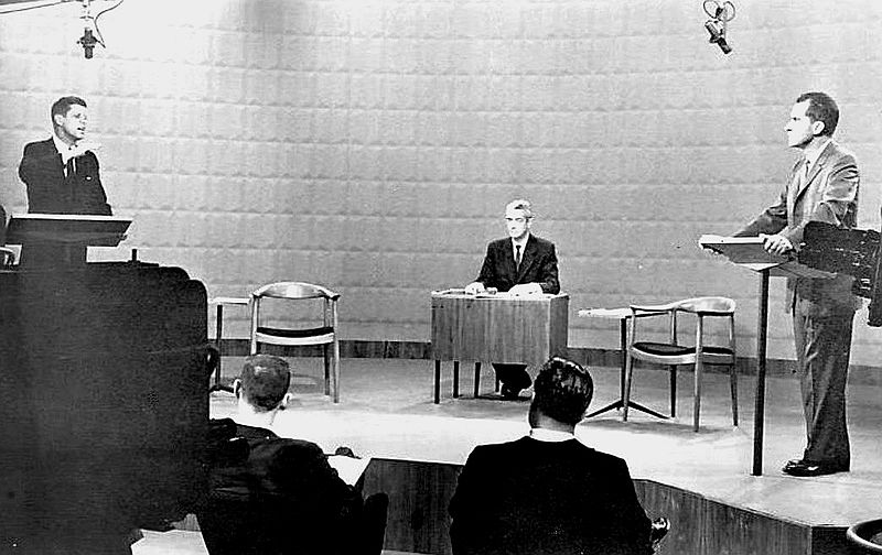 First 1960 Presidential Debate. (Wikimedia commons)