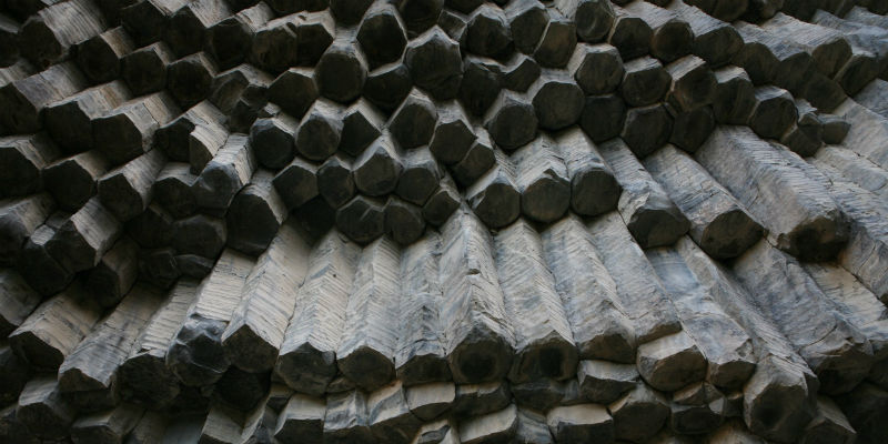 "Wikipedia: ""Symphony of the Stones carved by the Goght River at Garni Gorge in Armenia is an example of an emergent natural structure."" Released by WOWARMENIA for Wikimedia under Creative Commons Attribution-Share Alike license"